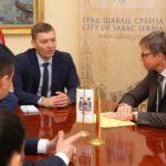 Gradonačelnik Šapca Nebojsa Zelenovic doveo ambasadora Nemačke u Srbiji Aksel Ditman